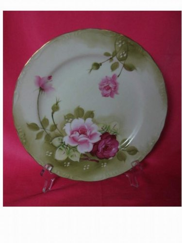 """Vintage - 10"""" Beautiful Norcrest Plate with Roses"""