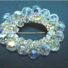Vintage.....Beautiful Oval Crystal Pin