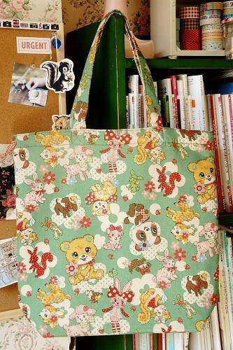 Free Shipping Japanese Kawaii Handmade ECO-Friendly Shopping Bag Tote - little Animals