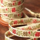 1.6cm x 5 Yards - kawaii Cotton Woven Jacquard Trim Ribbon - Flowers