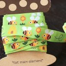 1.6cm x 5 Yards - kawaii Cotton Woven Jacquard Trim Ribbon - Little Bees
