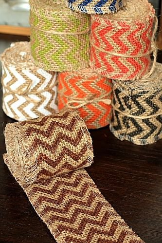 6cm x 2 Yards - Burlap Decor Wide Linen Ribbon Roll