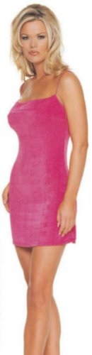 Slinky Mini Dresses, Fuchsia- One Size