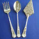 NIB WM. ROGERS SILVERPLATED 3 PC SERVING SET