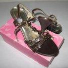Yaqite Brown Ladies Dress Shoes, Size 8 1/2