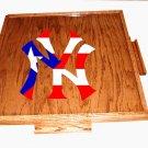 New york yankee Domino table top With Puerto flag (dark)