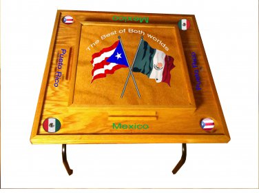 Puerto Rico & Mexico Domino Table