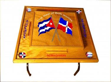 Dominican Republic & Cuba Domino Table