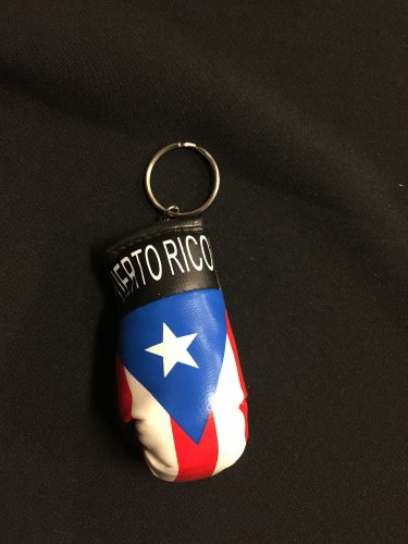 Puerto Rico Flag Boxing Glove Key Chain