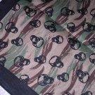 NEW GREEN TAN BROWN BLACK ARMY CAMO w SKULLS BANDANA HEAD WRAP SCARF APOCALYPSE