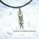 "NEW HAWAIIAN KUA GOOD LUCK TIKI PEWTER PENDANT 18"" NECKLACE"