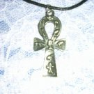 "EGYPTIAN ANHK SILVER PEWTER PENDANT 30"" NECKLACE SYMBOL ANKH"