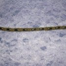 HAND WOVEN MACRAME HEMP CHOKER w METAL SILVER NICKEL BEADS SURF TIE ON NECKLACE