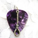 NEW DEEP PURPLE GUITAR PICK ROPE NOOSE PENDANT NECKLACE