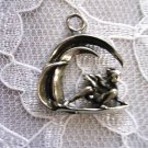 NORTH SHORE 3D SURFER IN THE CURL OF A WAVE PEWTER PENDANT NECKLACE