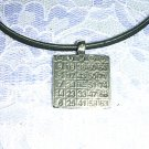 NEW LUCKY BINGO CARD SILVER PEWTER PENDANT NECKLACE