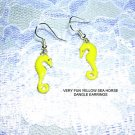 NEW FUN YELLOW SEA HORSE EARRINGS OCEAN - SEA JEWELRY