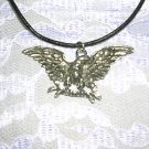 AMERICAN EAGLE w OLIVE BRANCH PEWTER PENDANT NECKLACE