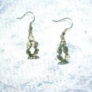 WESTERN CACTUS PLANT PEWTER PIERCED EARRINGS JEWELRY