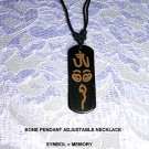 MOJAVE LASER ENGRAVED TRIBAL SYMBOL FOR MEMORY PENDANT ADJ NECKLACE