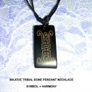 LASER ENGRAVED MOJAVE TRIBAL SYMBOL FOR HARMONY PENDANT ADJ NECKLACE