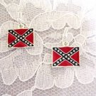 NEW CONFEDERATE FLAG SOUTHERN PRIDE FLAG CHARMS DANGLING EARRINGS