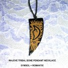 MOJAVE LASER ENGRAVED ROMANTIC CELESTIAL MOON PENDANT ADJ NECKLACE