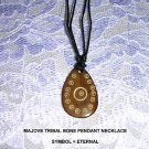 MOJAVE TRIBAL INFINITE ART ETERNAL SYMBOL HORN PENDANT ADJ  NECKLACE