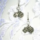 NEW CAST PEWTER FARM TRACTOR TRACTORS DANGLING CHARMS EARRINGS