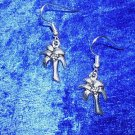 ISLAND TROPICAL COCONUT PALM TREE TIBET SILVER EARRINGS