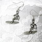 COOL HAWAIIAN SURFER DUDE - SURF GUY PEWTER CHARM DANGLE PIERCED EARRINGS