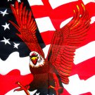 WAVY AMERICAN FLAG - AMERICAN EAGLE - FLYING - LANDING BANDANA HEAD WRAP