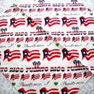 NEW I LOVE PUERTO RICO BANDANA HEAD WRAP SCARF FLAG HEARTS WHITE RED BLUE GREEN