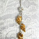 3 REAL SEA SHELLS ON CHAIN NATURAL BROWNS SHELL COLORS ON CZ BELLY BUTTON RING