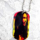 "NEW LONG HAIR BOB MARLEY MUSIC MAN RASTA COLOR PENDANT 25"" BALL CHAIN NECKLACE"