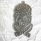 PUERTO RICO TAINO FERTILITY FRESH WATER ATABEY CAGUANA PEWTER PENDANT NECKLACE
