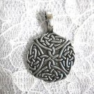 PEWTER ENTWINED CELTIC INFINITY SCROLL KNOT ROUNDED PEWTER PENDANT NECKLACE