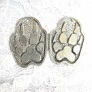 XL WOLF PAW CLAW ANIMAL SPIRIT WOLVES USA PEWTER FULL PENDANT EARRINGS