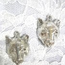 ROCKY MOUNTAINS BIG CAT COUGAR HEAD MOUNTAIN LION USA PEWTER FULL PENDANTS EARRINGS WILDLIFE