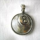 EIGHT BALL POOL GAME CAST PEWTER PENDANT ADJ CORD NECKLACE BILLIARDS 8 BALL HALL GAMES