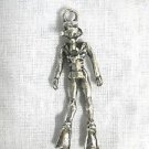 3D SCUBA DIVER w TANK MASK & FLIPPERS DETAILED PEWTER PENDANT ADJ CORD NECKLACE