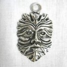 WOODSMAN TREE MAN GREEN MAN FATHER EARTH CAST PEWTER PENDANT ON ADJ CORD NECKLACE