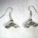 CARS FUN 3D VOLKSWAGON VW BUG CAST PEWTER DANGLING CHARM FASHION EARRINGS