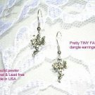 PRETTY PEWTER DANGLING CLASSIC FAIRY FAIRIES PIXIE WIRE EARRINGS