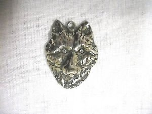 APEX PREDITOR WILDLIFE ANIMAL DETAILED WOLF FACE USA CAST PEWTER PENDANT NECKLACE WOLVES
