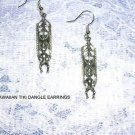 NEW GOOD LUCK HAWAIIAN TIKI MAN - KUA PROTECTION TIKI DANGLING PENDANT EARRINGS