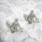 LIVING GIANT GALAPAGOS TURTLE TORTOISE DANGLING USA CAST PEWTER CHARM EARRINGS