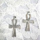 ANCIENT EGYPTIAN ETERNAL LIFE SYMBOL ANKH CROSS PIERCED EARRINGS ANHK JEWELRY