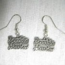KILLER ZOMBIE HUNTER TEXT APOCALYPSE END OF DAYS PREPPER CHARMS PEWTER EARRINGS