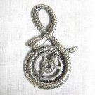 NEW GEAR HEAD STEAMPUNK ART COILED SNAKE w GEARS IN THE ROUND PEWTER PENDANT ADJ CORD NECKLACE